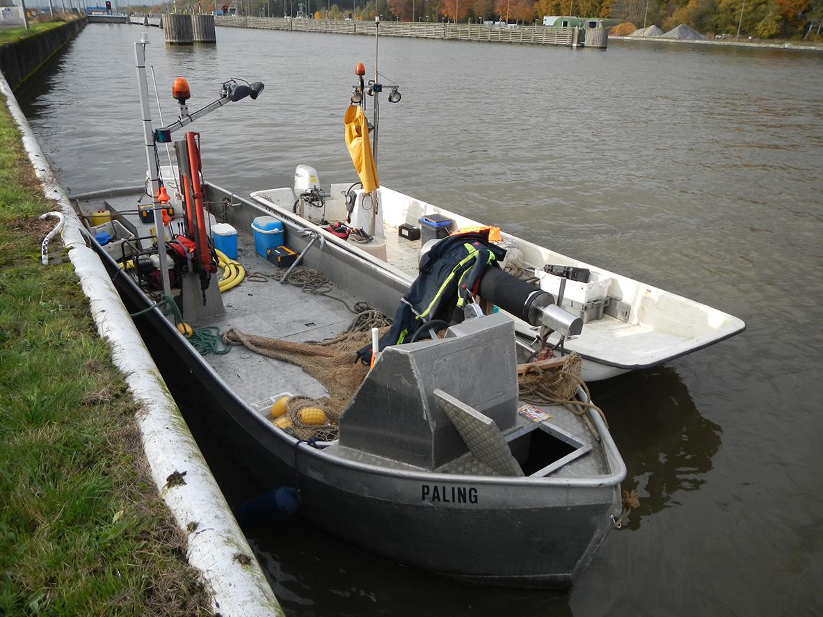 De boten waarmee wij het onderzoek hebben verricht.